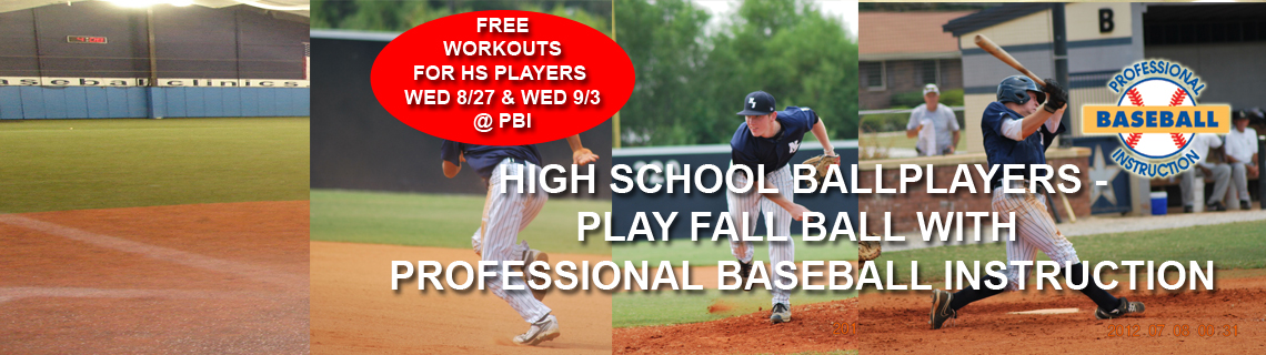 High School Players – Play Fall Ball With PBI