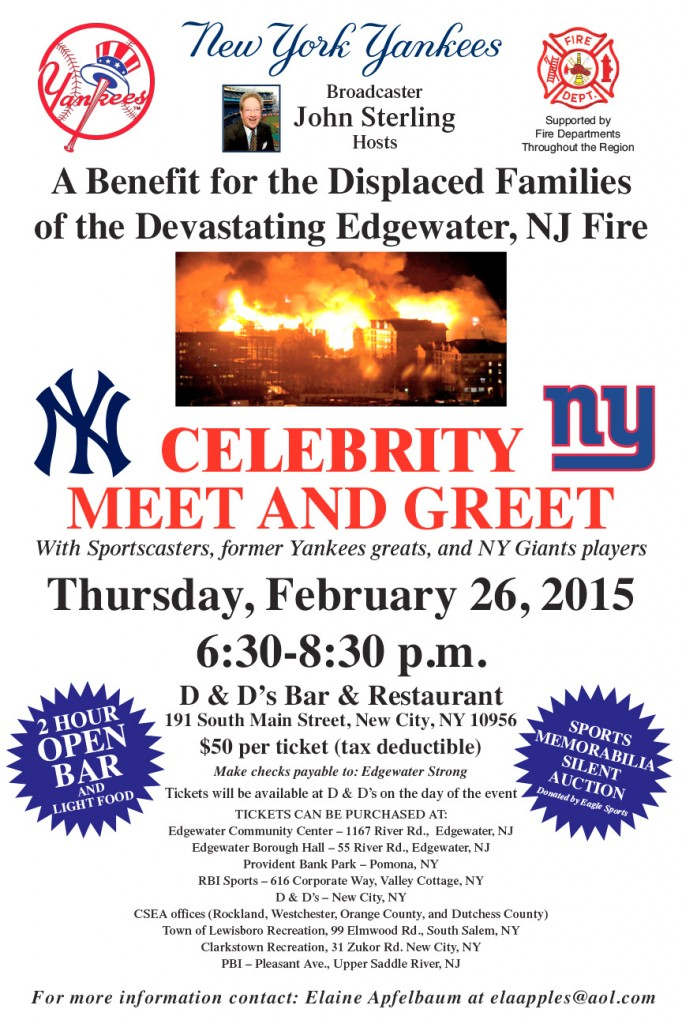 Edgewater Fire Benefit poster