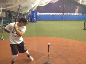 One-arm hitting drill