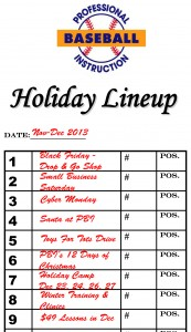 PBI's 2013 Holiday Season lineup