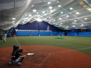 Indoor baseball at PBI